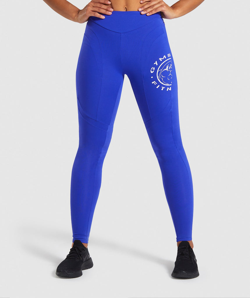 Gymshark Legacy Fitness Panel Leggings - Blue 1