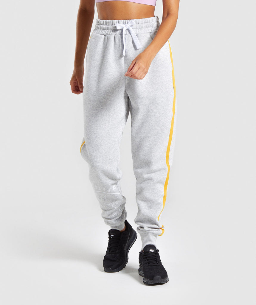 Gymshark Legacy Fitness Joggers - Light Grey 1