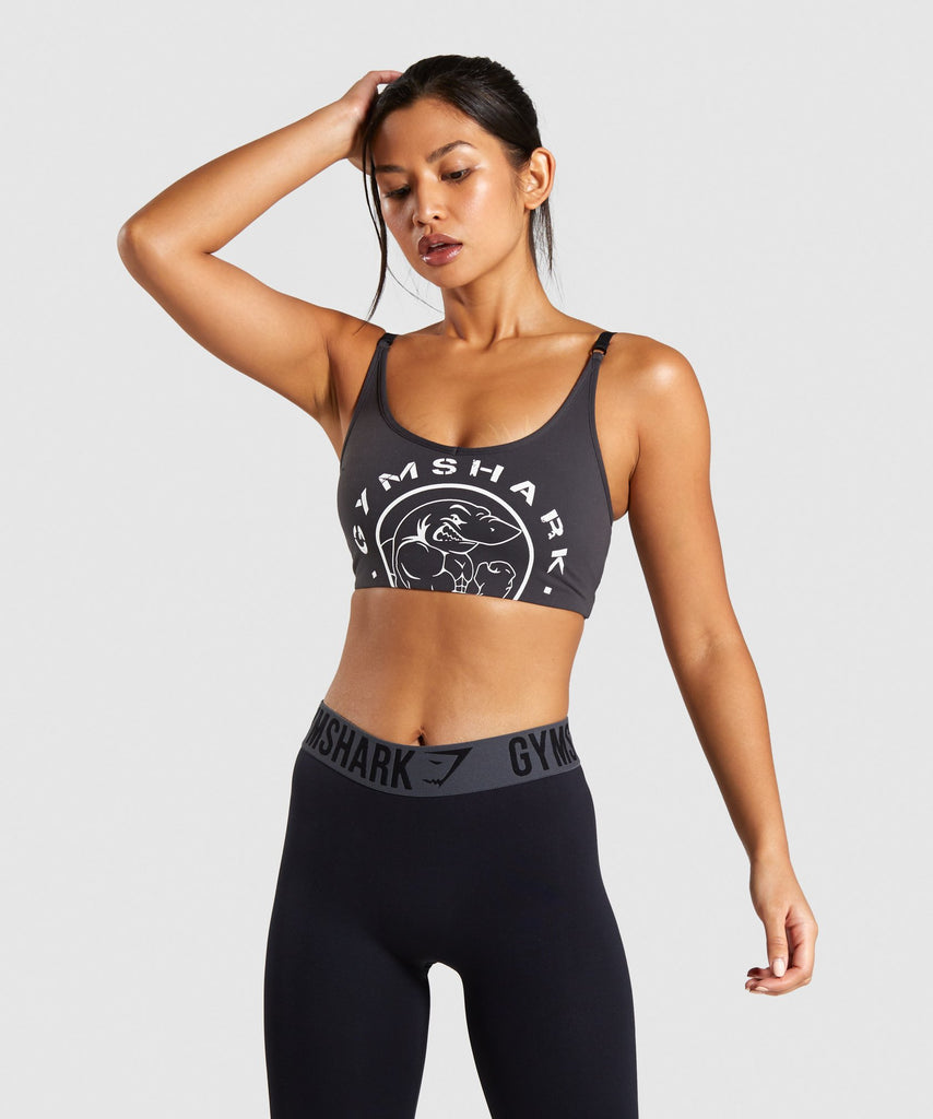 Gymshark Legacy Fitness Sports Bra - Washed Black 1