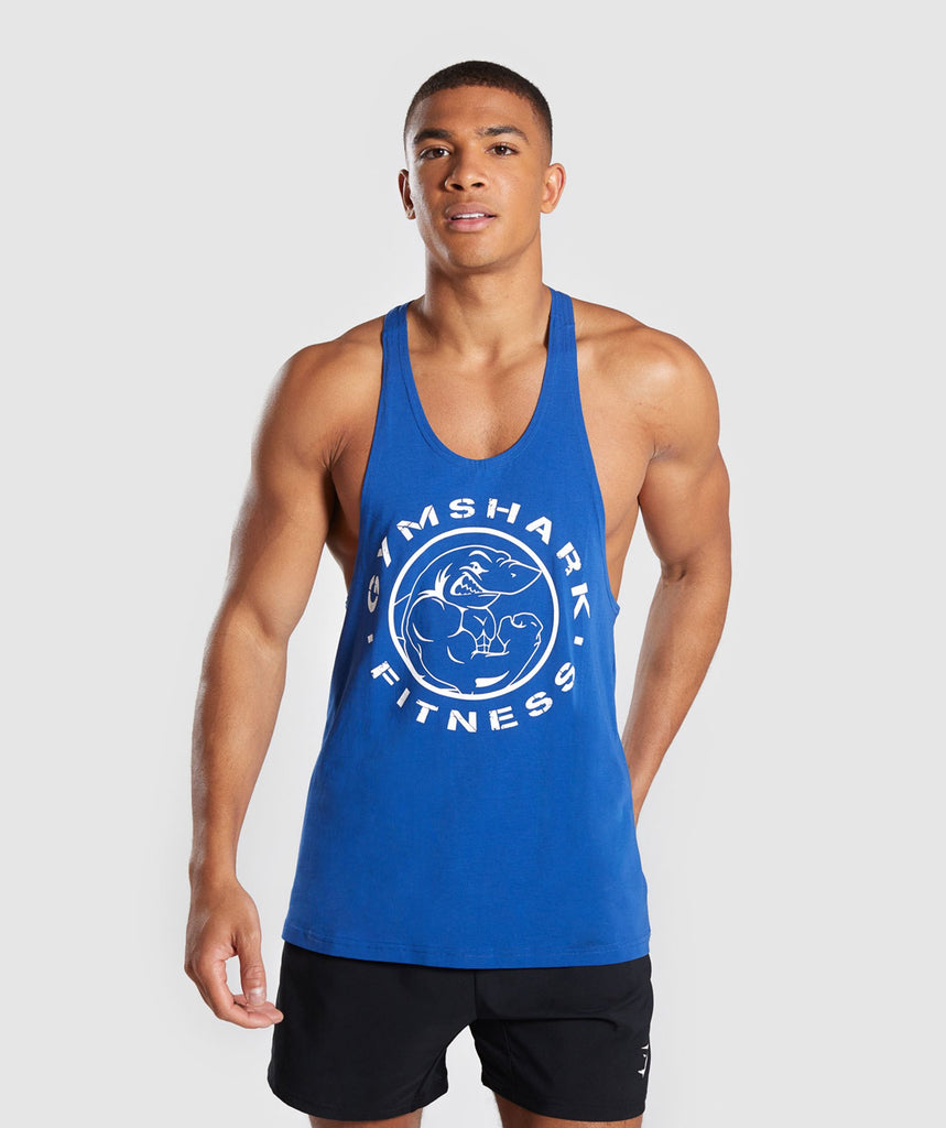 99956036cd1ff Gymshark Legacy Stringer - Blue 1