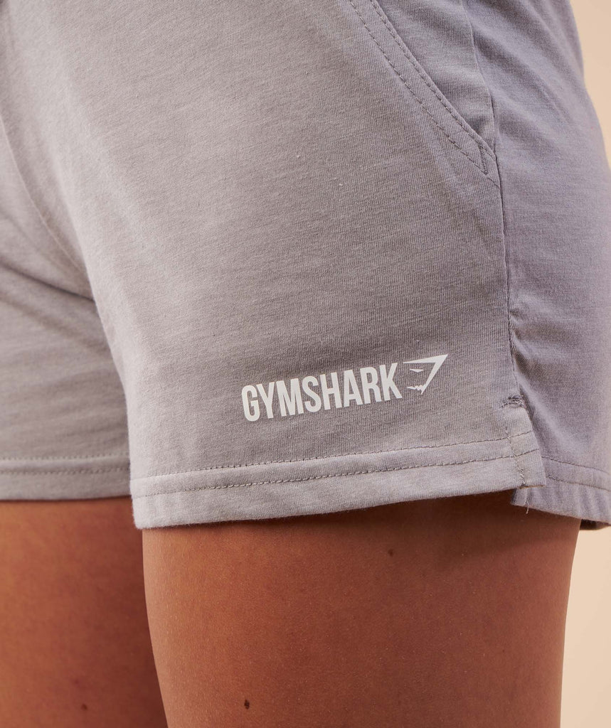 Gymshark Slouch Shorts - Light Grey Marl