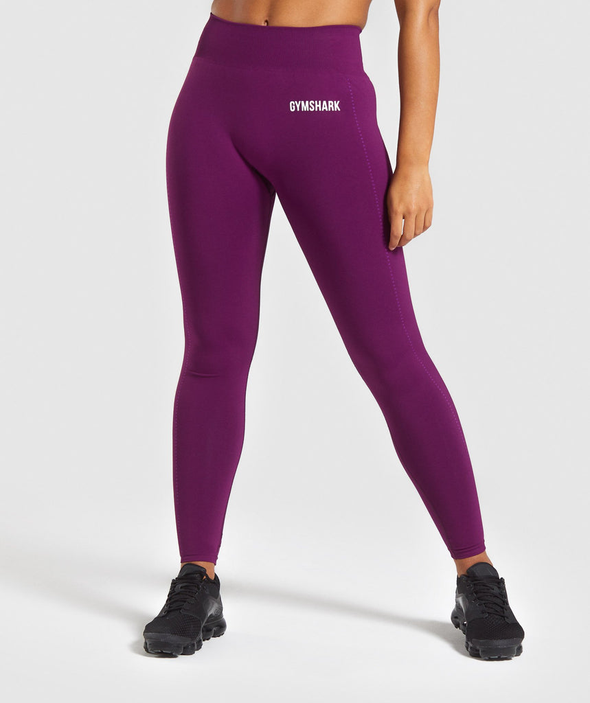 Gymshark Lightweight Seamless Tights - Purple 1