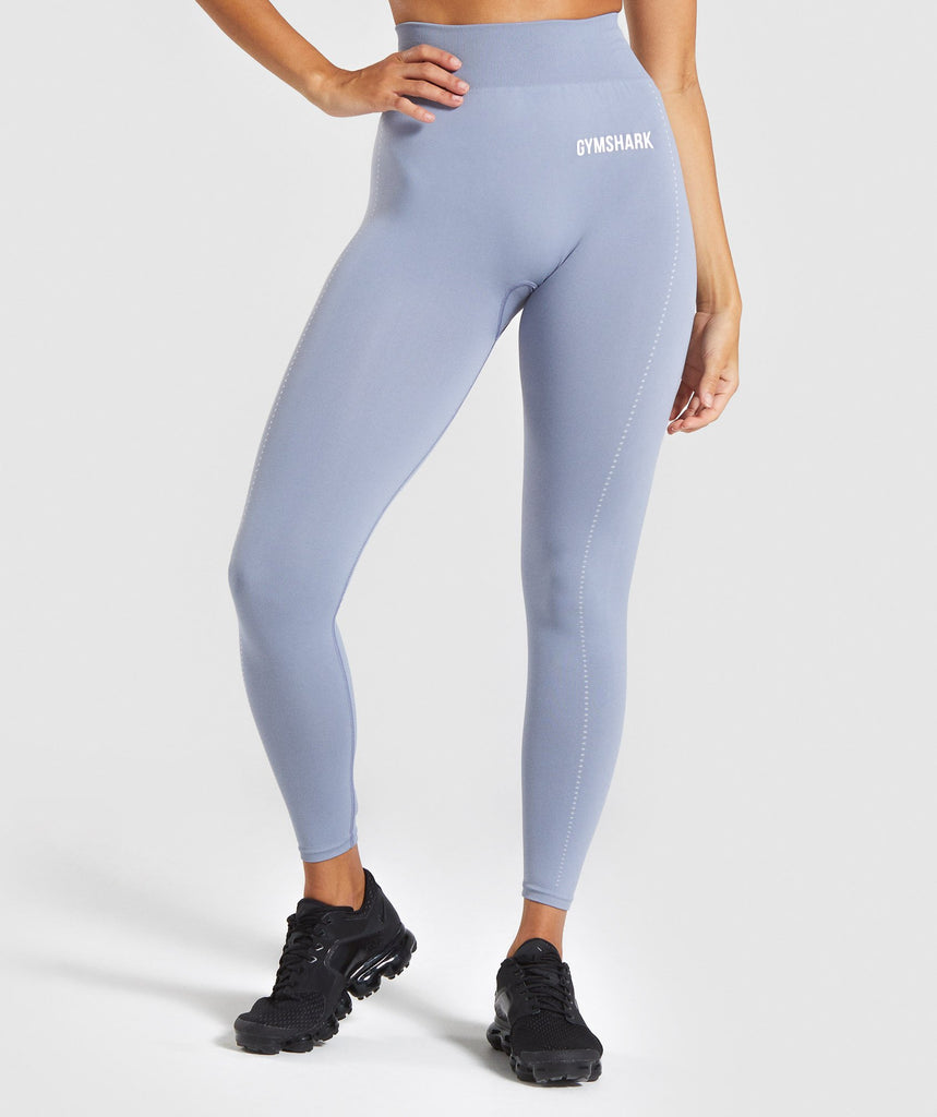 Gymshark Lightweight Seamless Tights - Blue 1