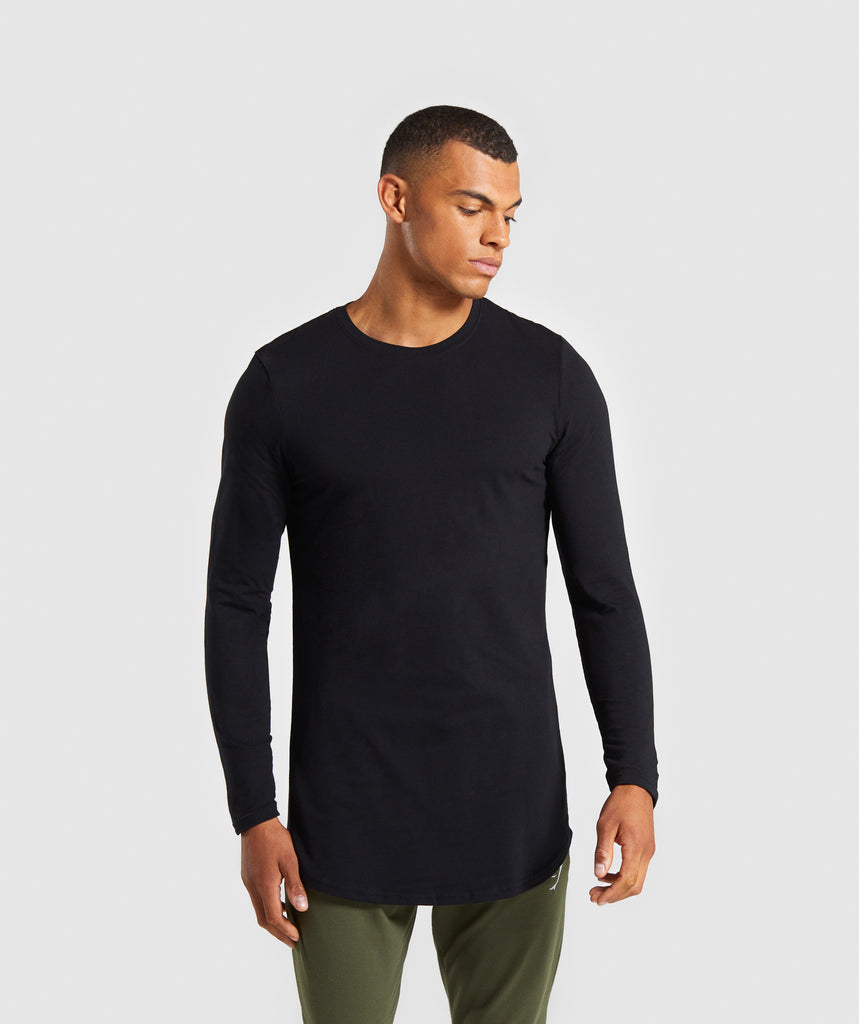 Gymshark Living Long Sleeve T-Shirt - Black 1