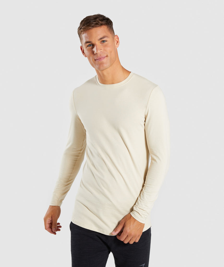 Gymshark Living Long Sleeve T-Shirt - Warm Beige 1