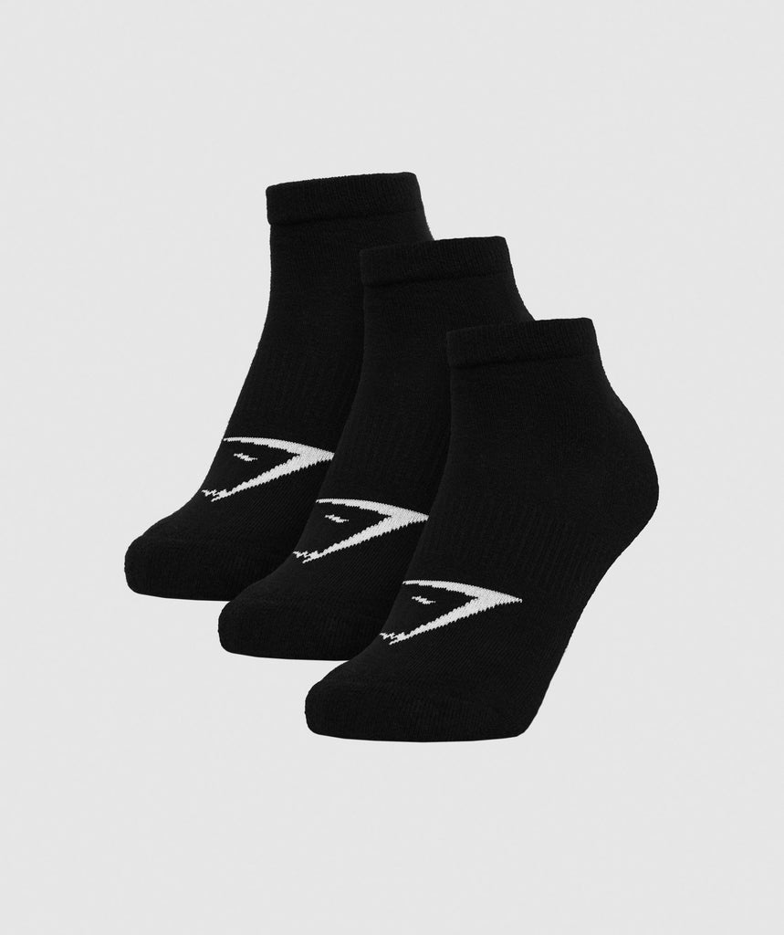 Gymshark Mens Trainer Socks (3pk) - Black 1