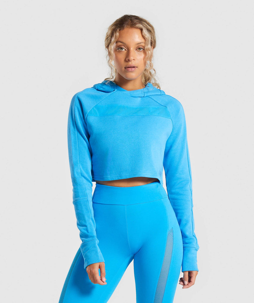 Gymshark Move Cropped Hoodie - Blue 1