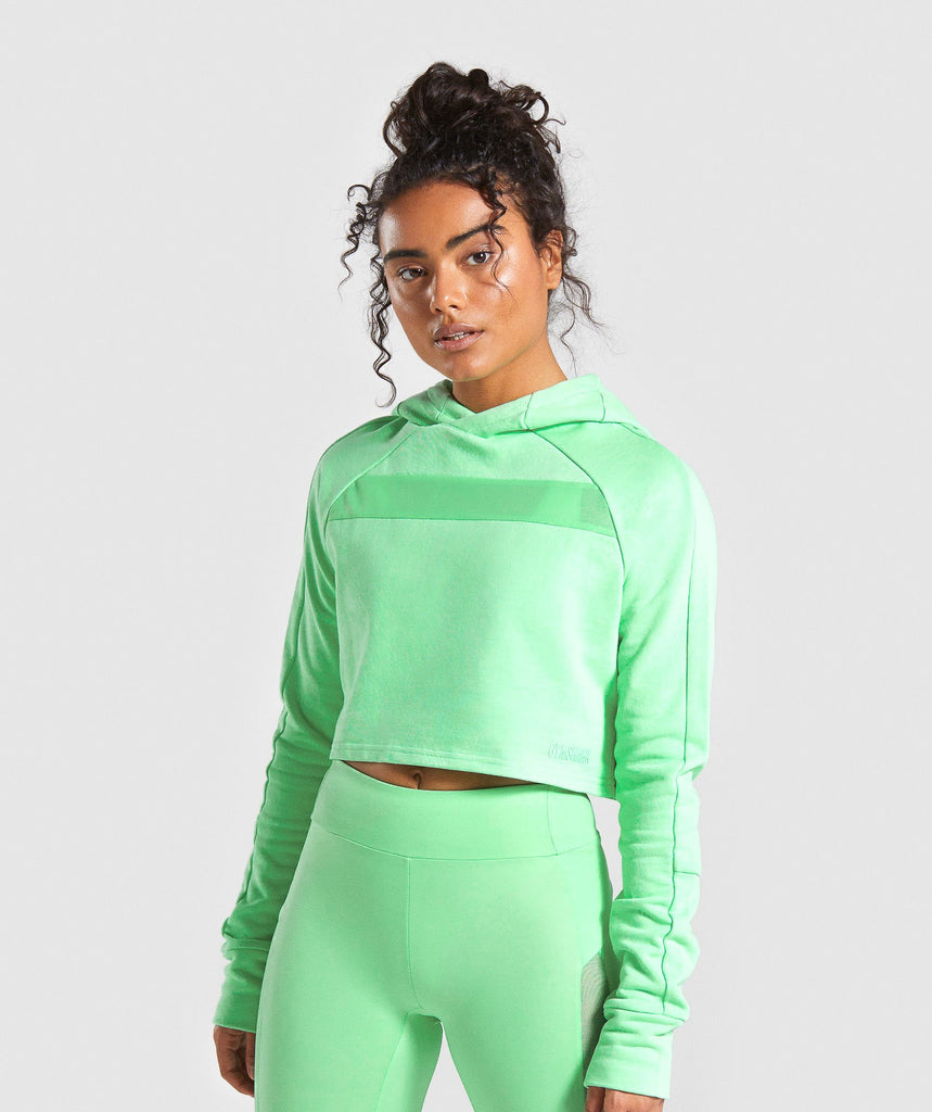 Gymshark Move Cropped Hoodie - Light Green 1
