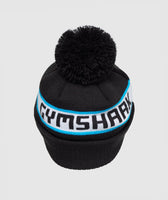 Gymshark New Era Bobble Beanie - Black/Gymshark Blue 6
