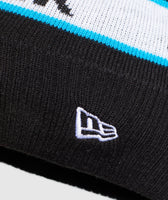 Gymshark New Era Bobble Beanie - Black/Gymshark Blue 8