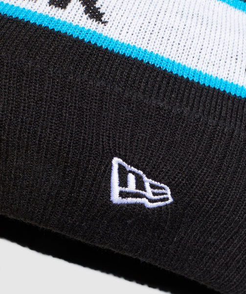 Gymshark New Era Bobble Beanie - Black/Gymshark Blue 3