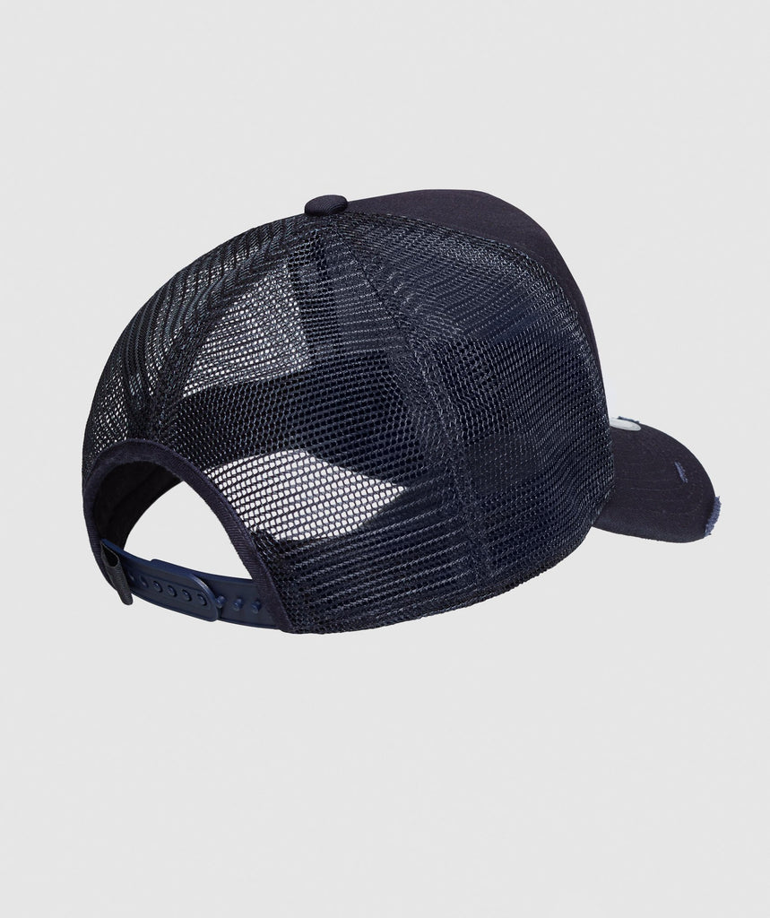 Gymshark New Era Distressed Trucker - Blue 2