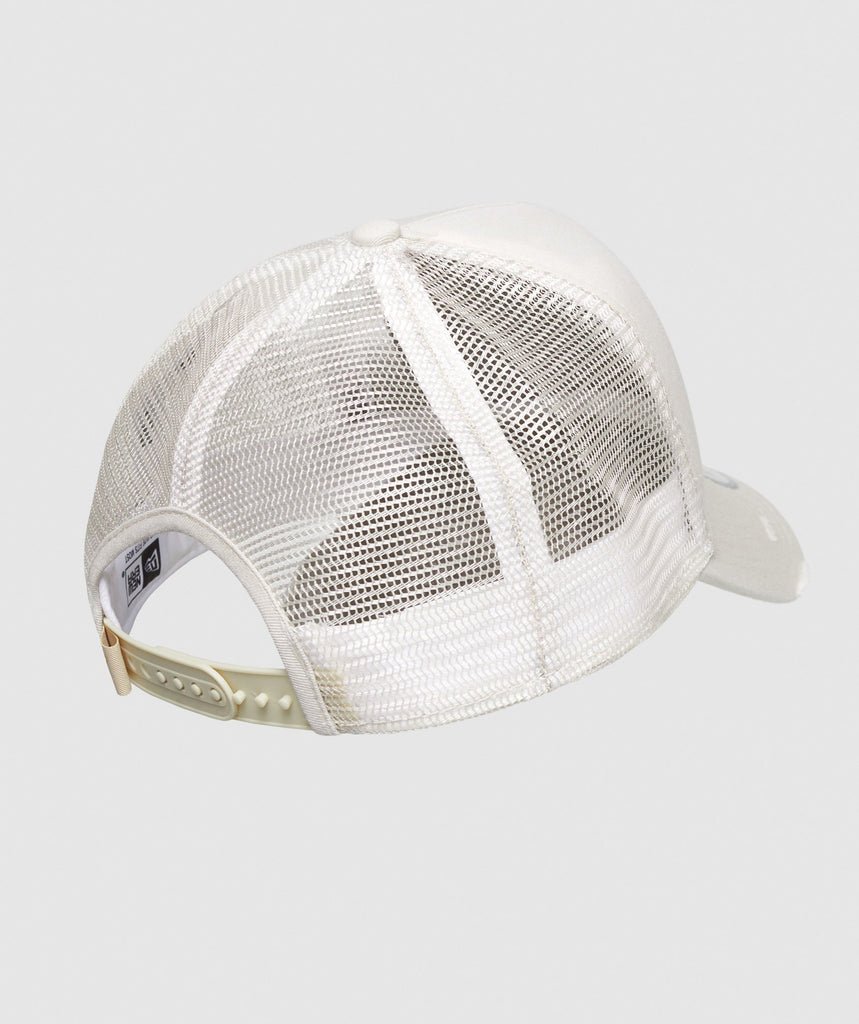 Gymshark New Era Distressed Trucker - White 2