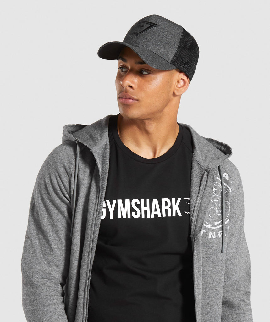 Gymshark New Era Mesh Trucker - Black Marl 1