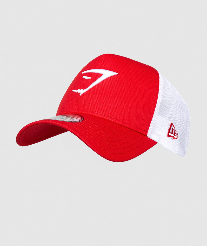 Gymshark New Era Mesh Trucker - Red 1