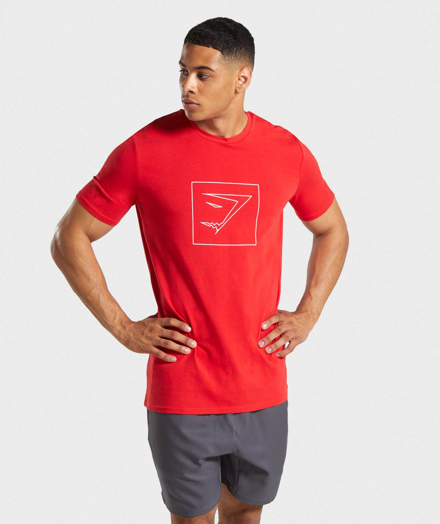 Gymshark Outline T-Shirt - Red 1