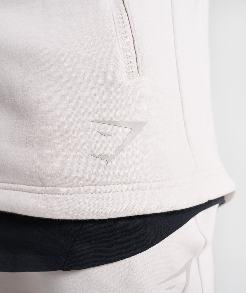 Gymshark Ozone Zip Up Hoodie - Washed Beige 6