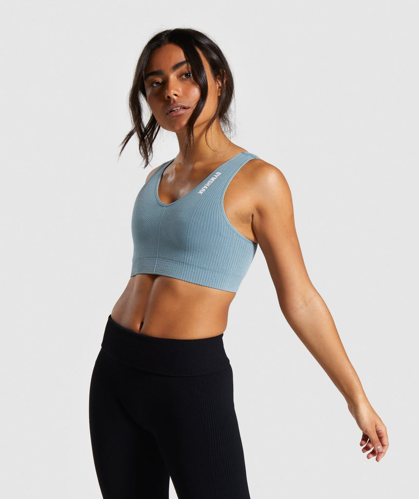 Gymshark Power Down Sports Bra - Turquoise 1