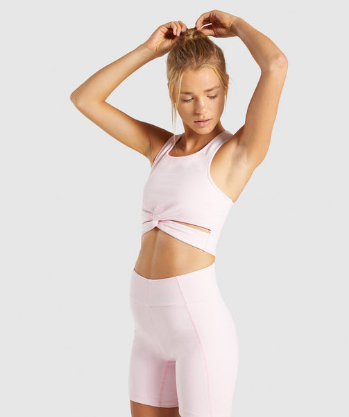 Gymshark Pastel Crop Top - Chalk Pink 4