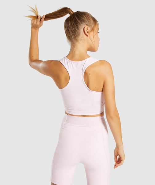 Gymshark Pastel Crop Top - Chalk Pink 1