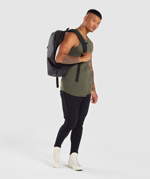 Gymshark Perforated Longline Tank - Woodland Green 3