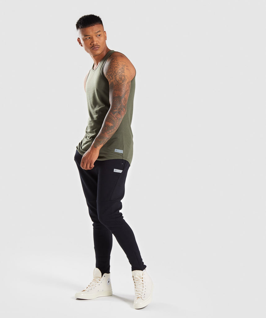 Gymshark Perforated Longline Tank - Woodland Green 6