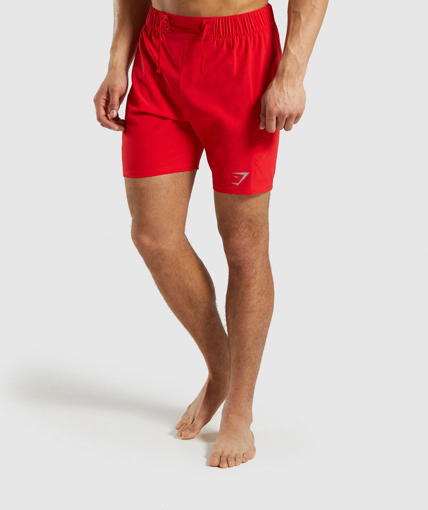 Gymshark Performance Board Shorts - Red 1