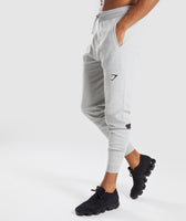 Gymshark Pinnacle Knit Joggers - Light Grey Marl 9