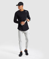 Gymshark Pinnacle Knit Joggers - Light Grey Marl 10