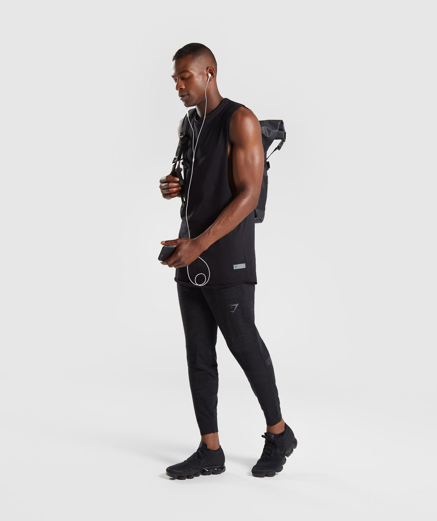 Gymshark Pinnacle Knit Joggers - Black Marl 5