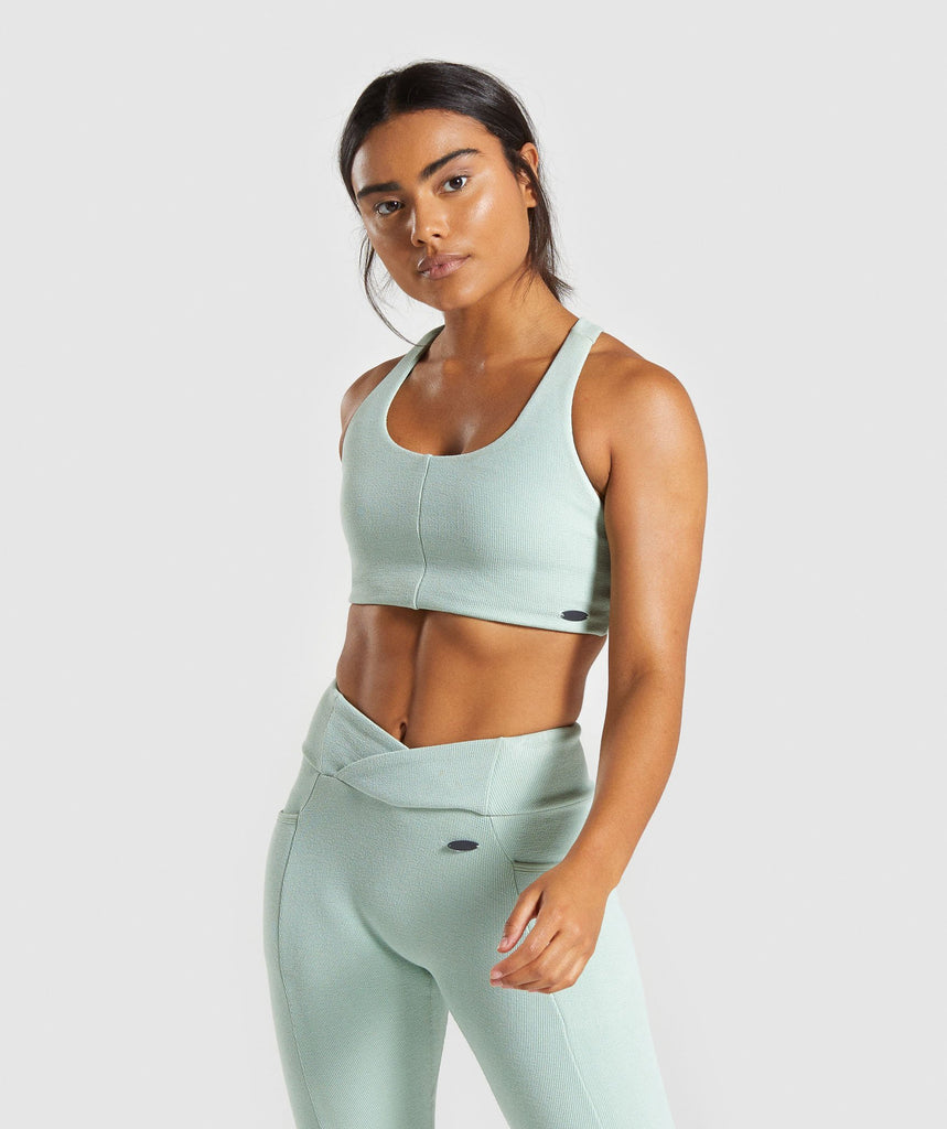 Gymshark Poise Sports Bra - Light Green 1