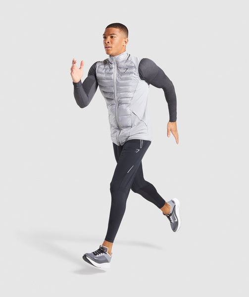 Gymshark Power Lightweight Gilet - Light Grey 3
