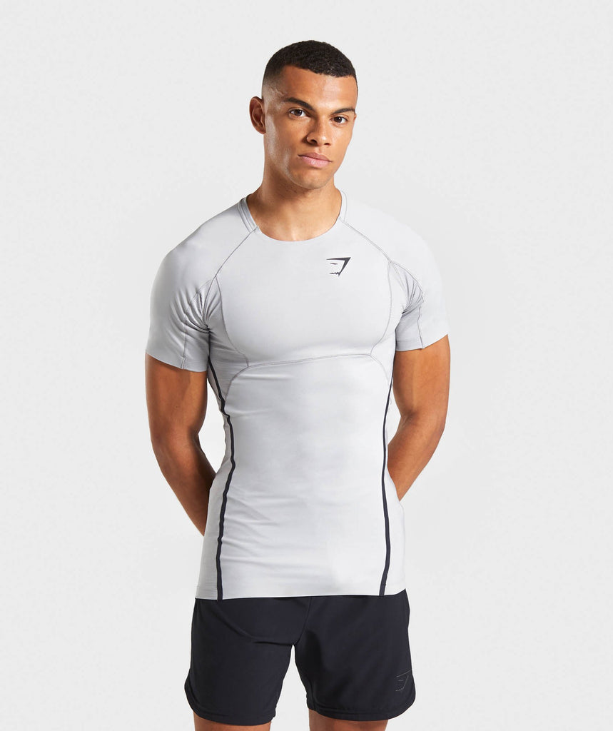Gymshark Premium Baselayer T-Shirt - Light Grey 1