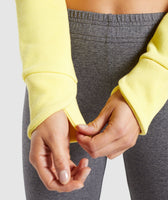 Gymshark Primary Cropped Raw Edge Hoodie - Pop Yellow 11
