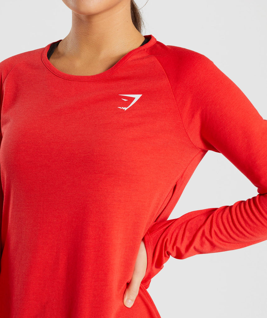 Gymshark Primary Open Cross Back Long Sleeve - Pop Red 5