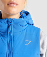 Gymshark Primary Puffer Gilet - Pop Blue 11