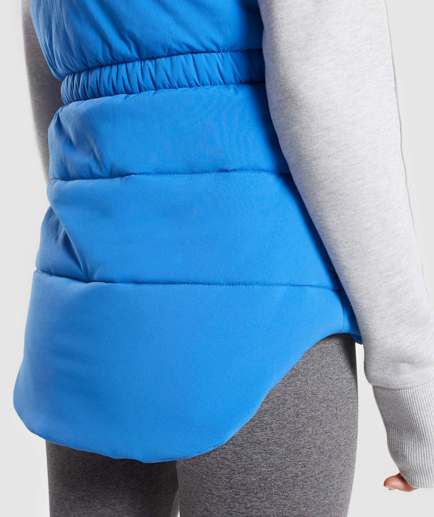 Gymshark Primary Puffer Gilet - Pop Blue 6