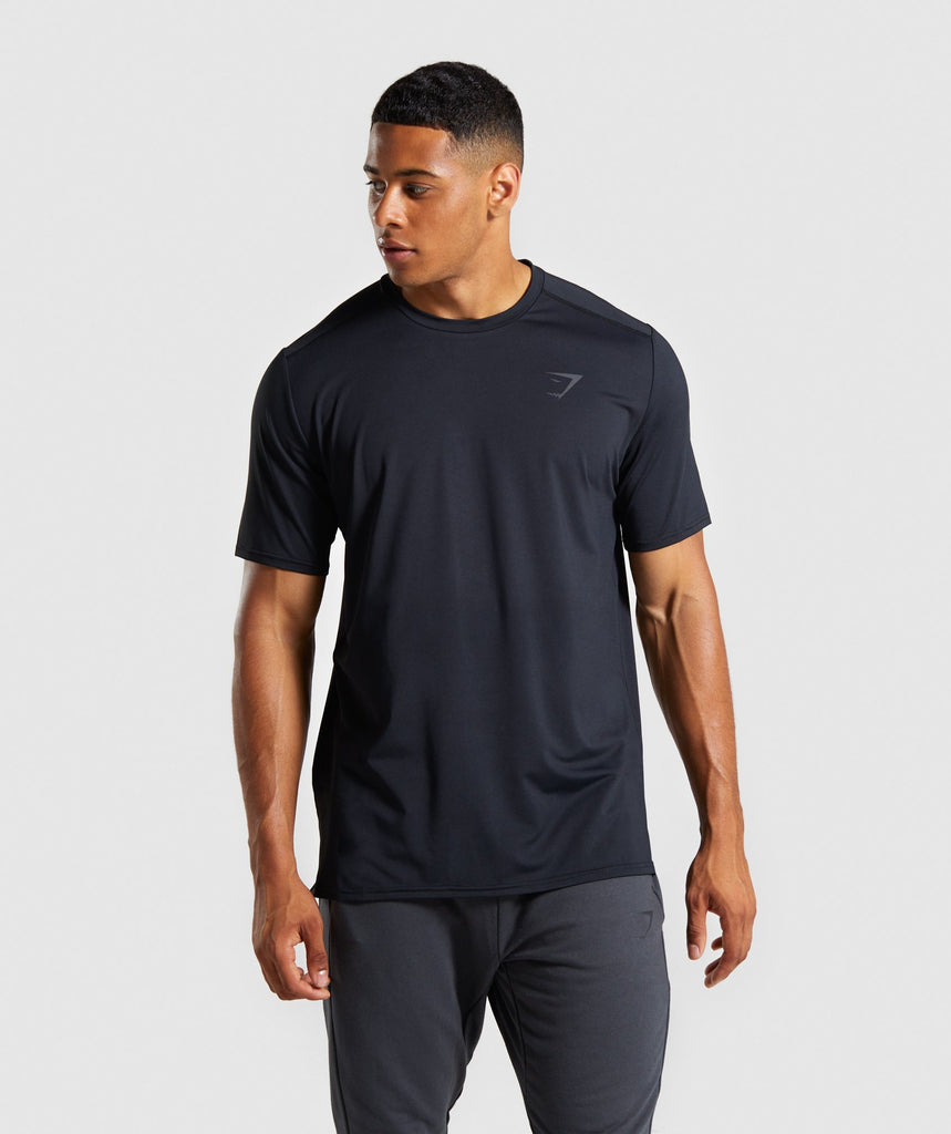 Gymshark Raw T-Shirt - Black 1