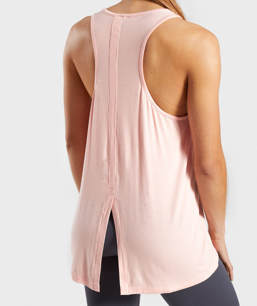 Gymshark Relaxed Graphic Vest - Washed Peach 6