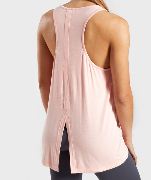 Gymshark Relaxed Graphic Vest - Washed Peach 4