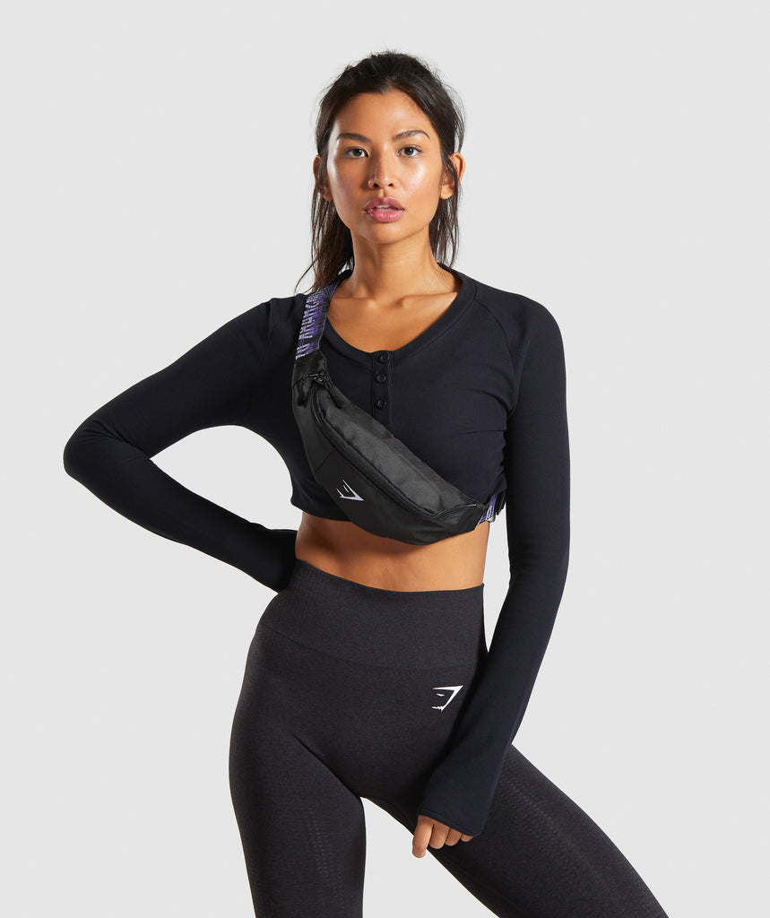 Gymshark Womens Sling Bag - Black 1