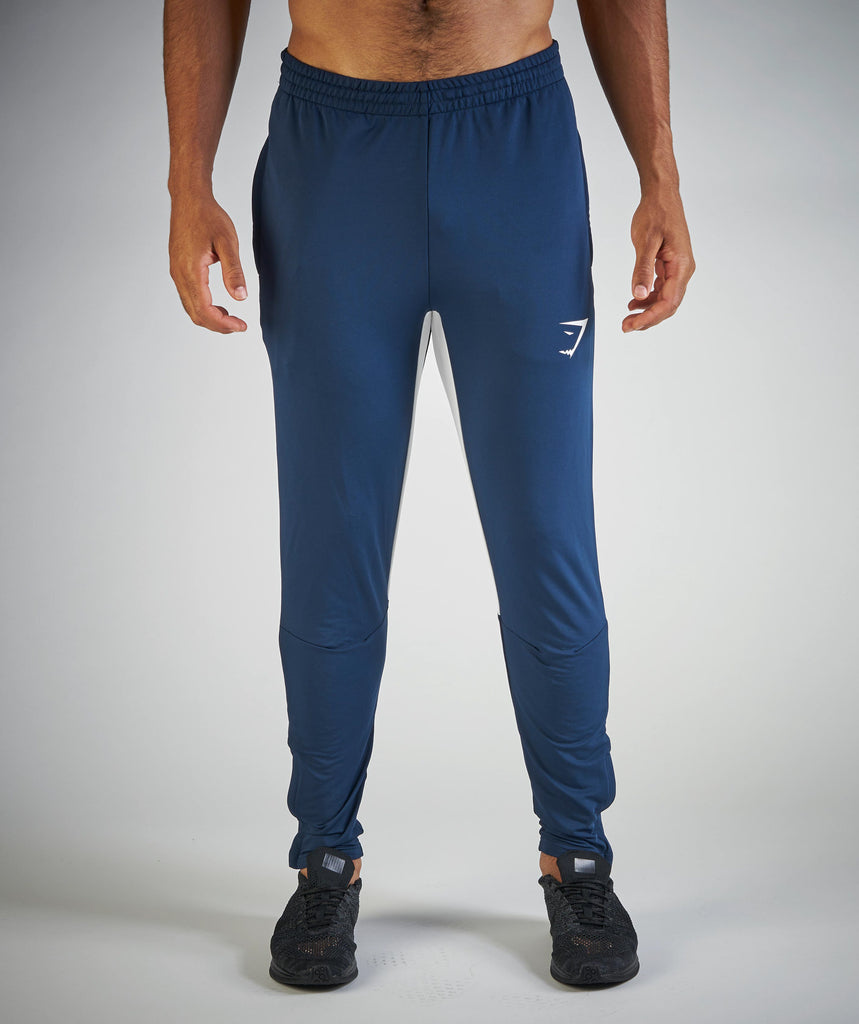 Gymshark Reactive Bottoms - Sapphire Blue/White