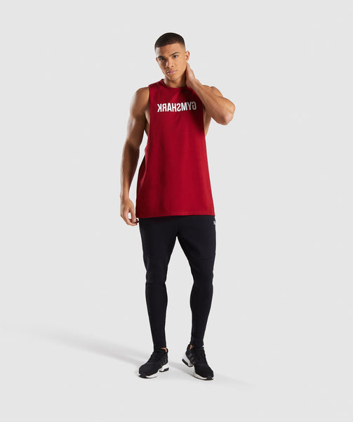 Gymshark Reverse Tank - Full Red 3