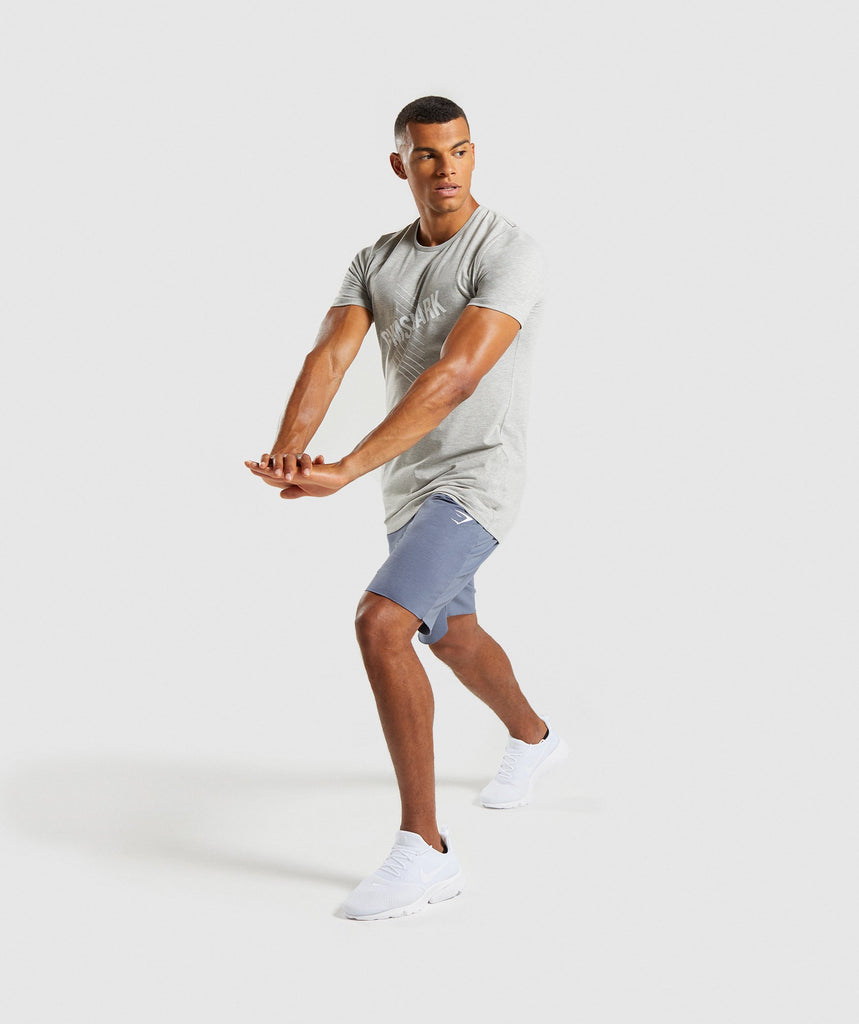 Gymshark Score T-Shirt - Light Grey Marl 5