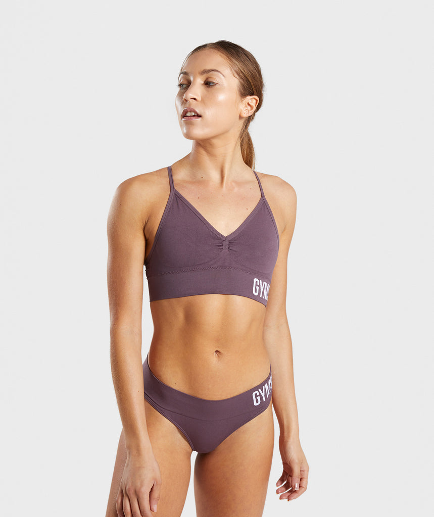 Gymshark Seamless Bralette - Purple Wash 1