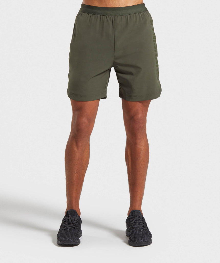 Gymshark Shadow Shorts - Dark Green 1