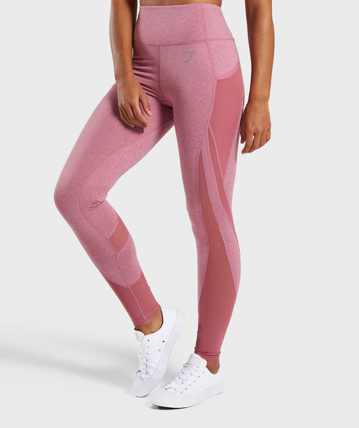 Gymshark Sleek Sculpture Leggings 2.0 - Dusky Pink Marl 4