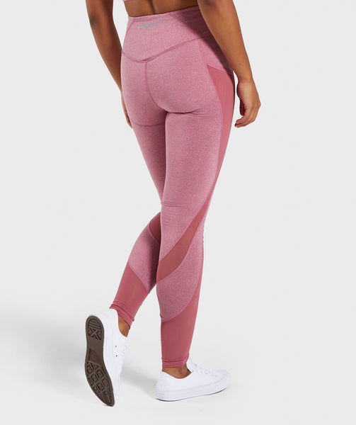 a73a0a09633ab Gymshark Sleek Sculpture Leggings 2.0 - Dusky Pink Marl | Gymshark