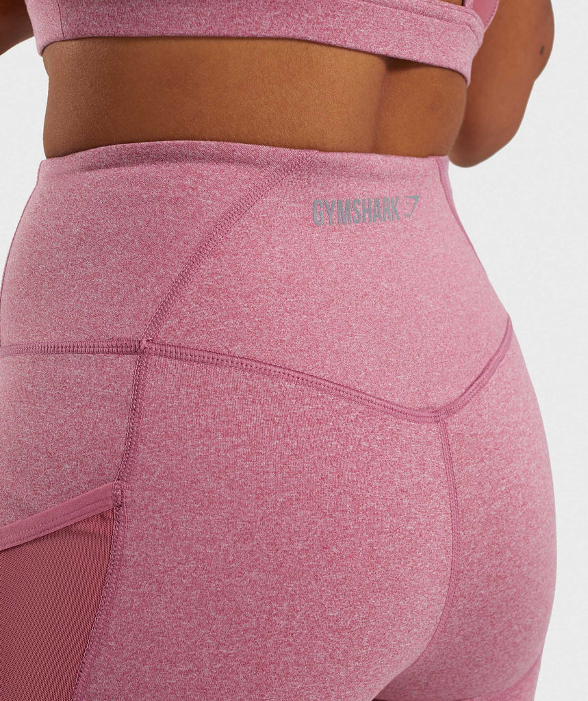 Gymshark Sleek Sculpture Leggings 2.0 - Dusky Pink Marl 6