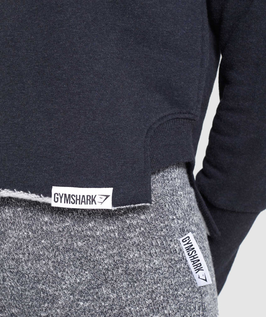 Gymshark Slounge Crescent Sweater - Black Marl 5
